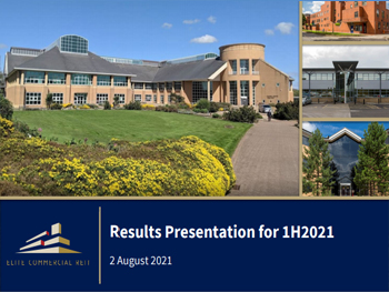 Results Presentation For 1H2021